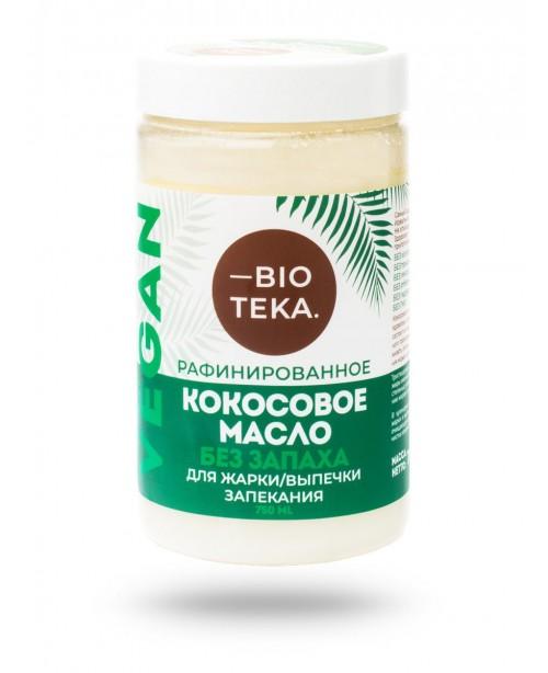 Кокосовое масло, рафинированное, 750 мл BIOTEKA