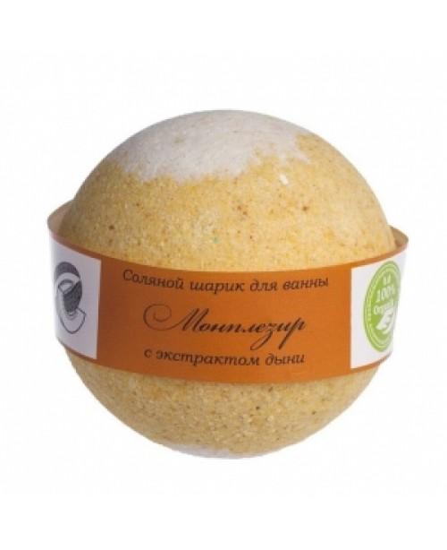 Шар бурлящий для ванны Savonry Монплезир Дыня (160г)