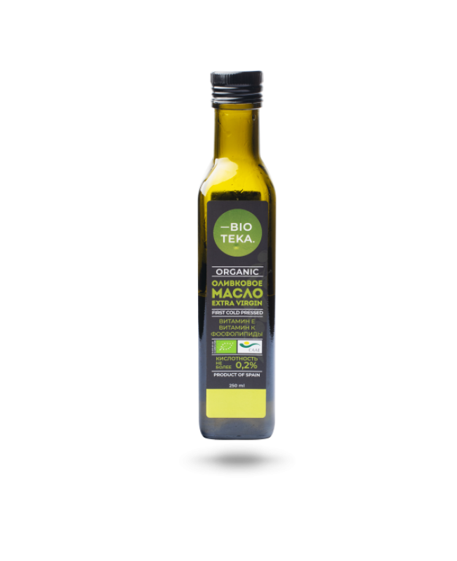 Органическое оливковое масло Extra Virgin BIOTEKA, 250 мл