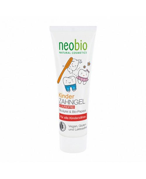 """Детская зубная паста NeoBio гелевая """"С био-яблоком и папайей"""", без фтора"""