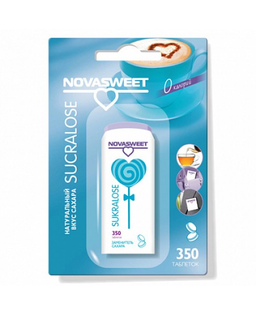 """Заменитель сахара в таблетках """"Сукралоза"""" Novasweet, 350 шт"""