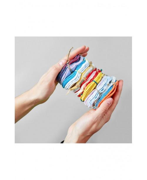 """Многоразовые """"ватные"""" диски, цвет розовая полоска, желтый, лес /остатки ткани 6 шт"""