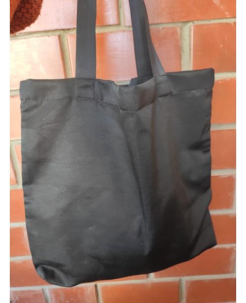 Сумка-шоппер черная с дном 45×44