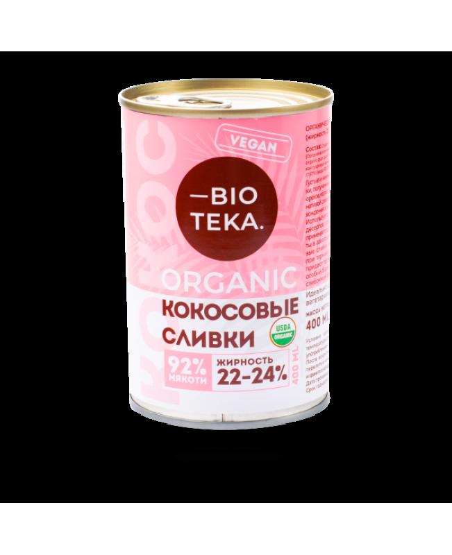 Органические кокосовые сливки BIOTEKA, 400 мл
