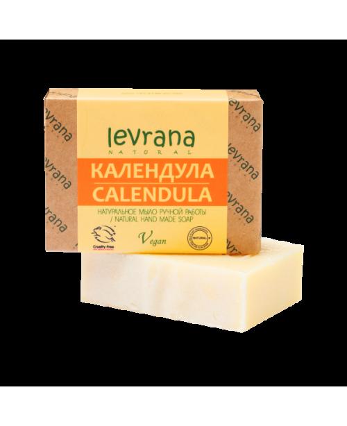 Мыло натуральное ручной работы LEVRANA Календула (100г.)