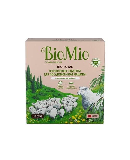 """Таблетки """"Bio-total"""" для посудомоечной машины, с маслом эвкалипта BioMio 30 шт"""