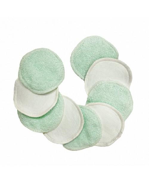 Диски многоразовые для лица из хлопка, цвет мятный Mamalino, 9 шт