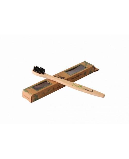 Зубная щетка Bamboobrush из бамбука с угольным напылением детская (мягкая)