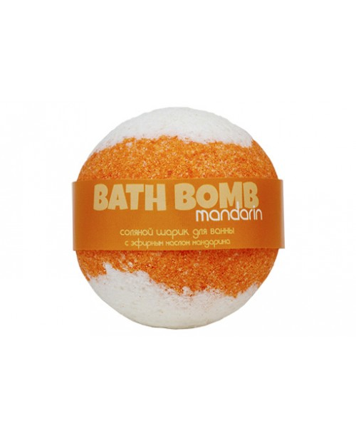 Шар бурлящий для ванны Savonry Оранжевое настроение Мандарин (120г.)