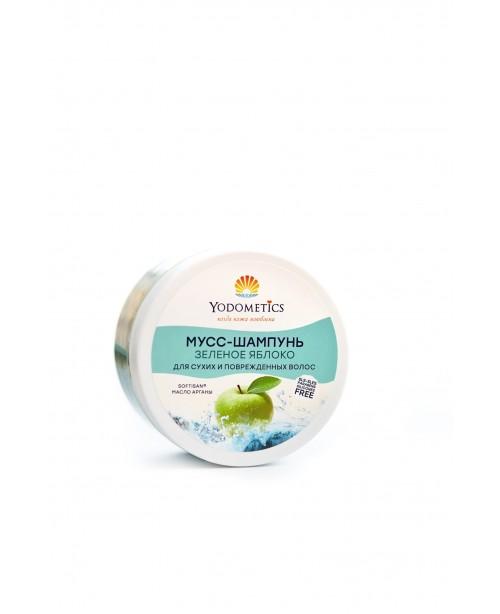 Мусс-шампунь Yodometics для сухих и поврежденных волос Зеленое яблоко (250мл)