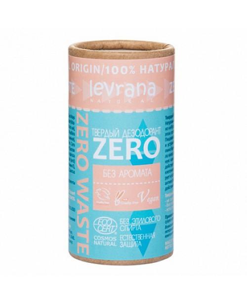 Дезодорант твердый Levrana Zero без аромата (75гр) картонная упаковка