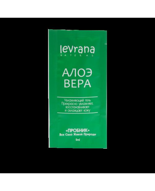 Гель Алоэ Вера LEVRANA Супер увлажнение, снятие воспалений и тонизирование кожи EC (5мл) сэмпл