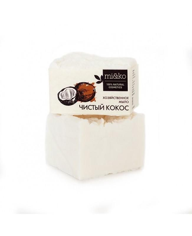 Мыло хозяйственное для посуды и стирки Mi&ko Чистый кокос (175г.), шт