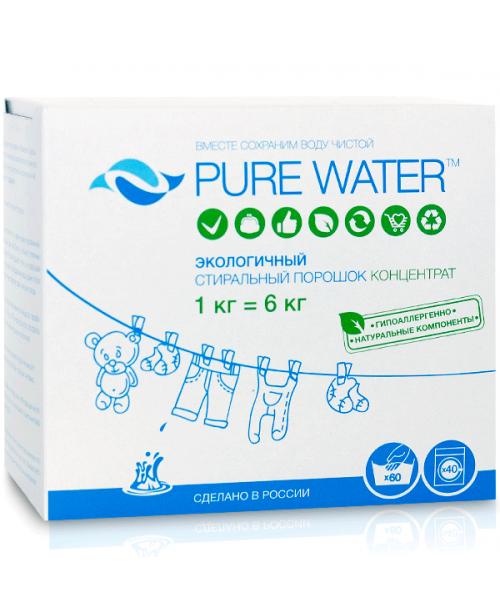 Стиральный порошок Pure Water (1кг.), шт