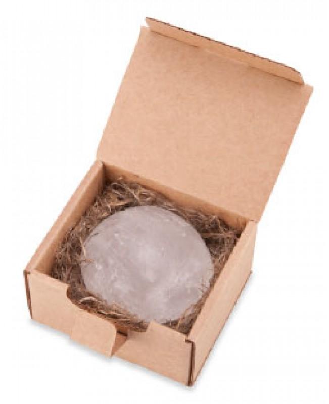 натуральный минеральный дезодорант-кристалл Алунит-NH, мини  55 гр., в подарочной эко-коробочке, алюмоаммониевые квасцы