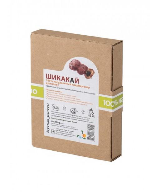 """Натуральный кондиционер для волос """"Шикакай"""" (порошок Acacia Concinna), Мыльные орехи, 100 гр."""