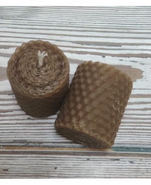Свеча из натуральной вощины малая, (длинна 5 см, диам 4 см) Sibia, Иркутск