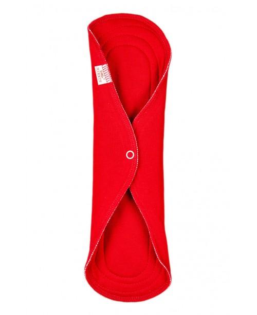 Женская многоразовая прокладка НОЧНАЯ хб 30 см цвет красный
