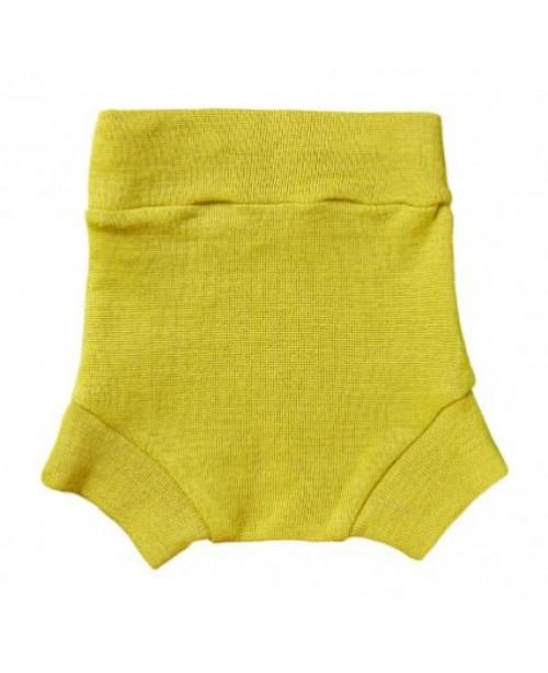Однослойные пеленальные штанишки шерстяные на подгузник,, цвет - Липа, размер M (7-12 кг)