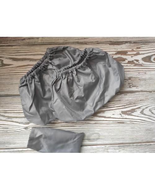 Многоразовые детские бахилы серые с мешочком